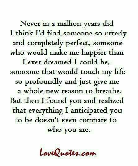 This is so true. I've dreamt of your love for 25 years since I met you. It is more amazing than I could have ever dreamed of. Ty Sam for allowing me into your life.