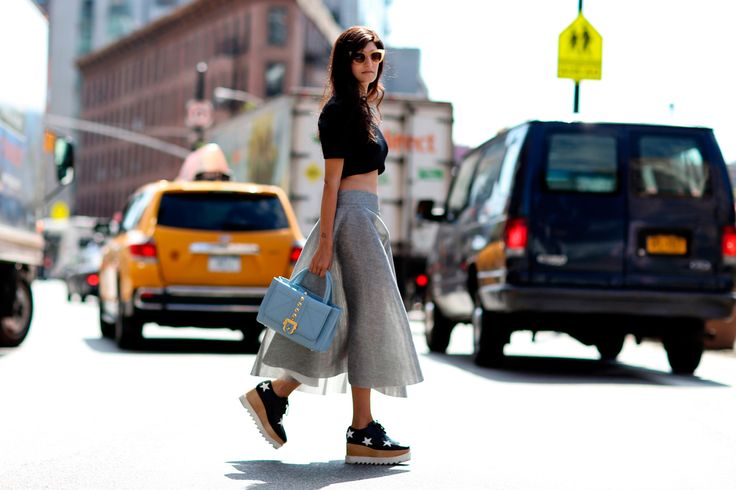 Street fashion: New York Fashion Week wiosna-lato 2015, fot. Imaxtree