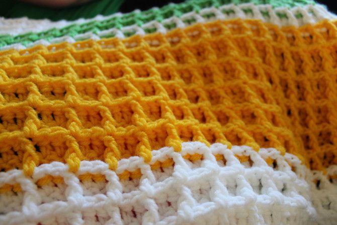 Waffle Stitch Blanket ~ free pattern ᛡ