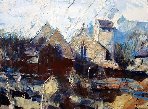 David Tress  'Uzmaston, Pembrokeshire', mixed media on paper, 57x76cm, 2006