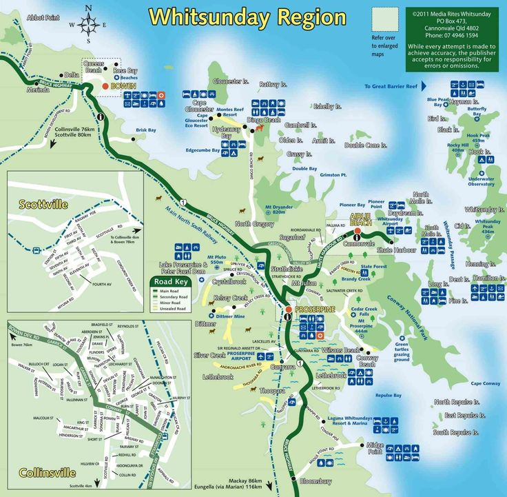 area queensland describes airlie beach australia map where is found in and names surrounding towns marinas islands an airport lists distances from
