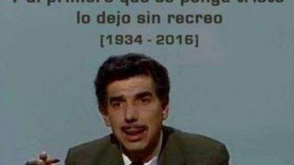 Los tiernos memes de despedida al Profesor Jirafales. - Proporcionado por Clarín