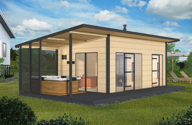 The Harvia Solide design sauna provides you with a new way of enjoying your home. The largest Solide outdoor sauna solution includes a sauna, a dressing room, a sauna cabin and an external canopy. Enjoy a modern cottage feel and spend the summer relaxing. #harvia #sauna #solide #harviasolide #solideoutdoor #outdoorsauna #summerhome #summerhouse #poolhouse #cozy #comfortzone