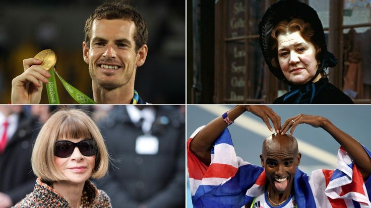 Andy Murrary and Mo Farah knighted whilst Jessica Ennis-Hill is made a dame. New Years Honours 2017 - BBC News.