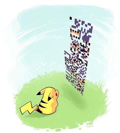 Pikachu vs MissingNo. via : https://www.facebook.com/SuperEfetivo