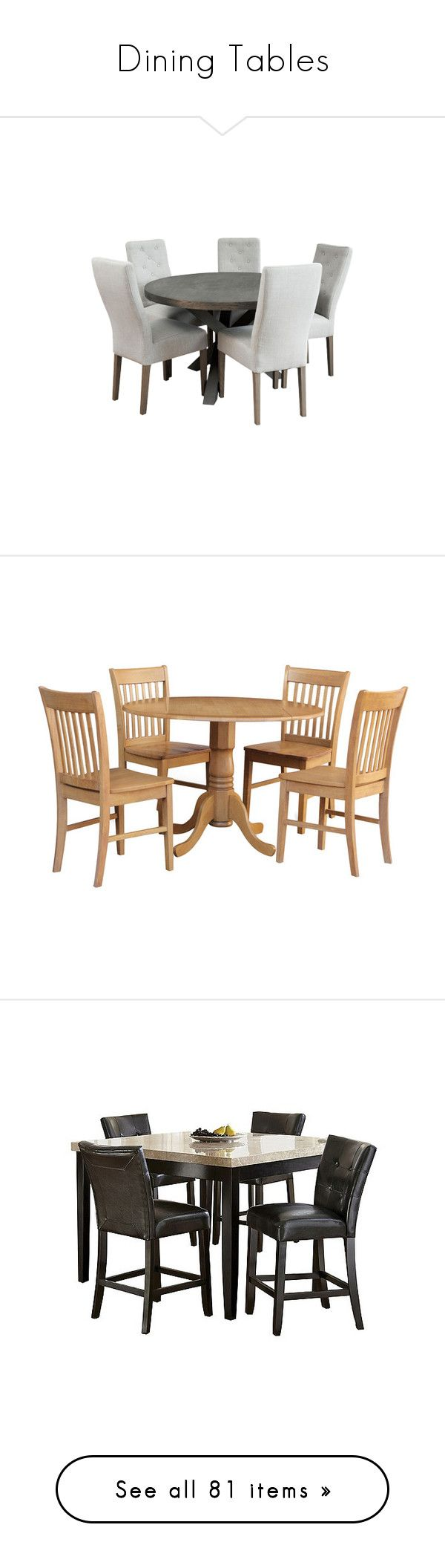 """Dining Tables"" by amazing-yessi on Polyvore featuring home, dining, kitchen, dining room, dining tables, filler, furniture, brown, oak dining sets and oak table and chairs"
