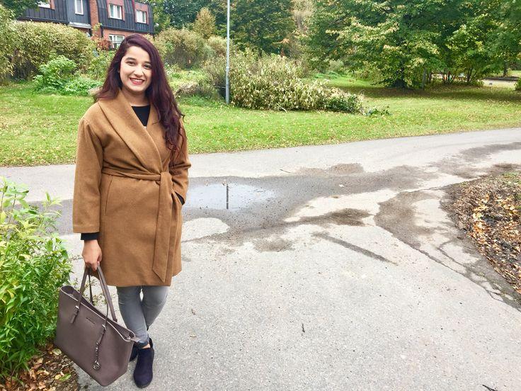 Camel coat: Zara Tote: Micheal kors
