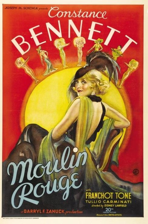 Vintage Poster - Moulin Rouge Paris - Showgirl
