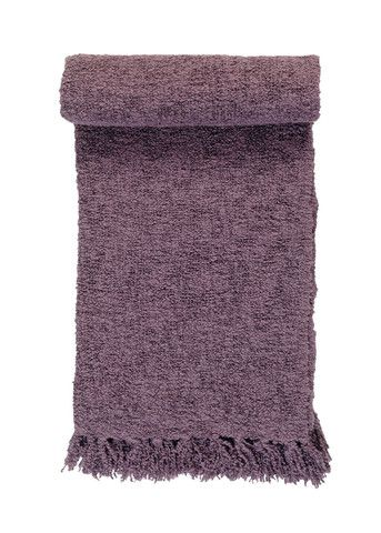 Knitted soft wool boucle throw from ECO brand Linum.