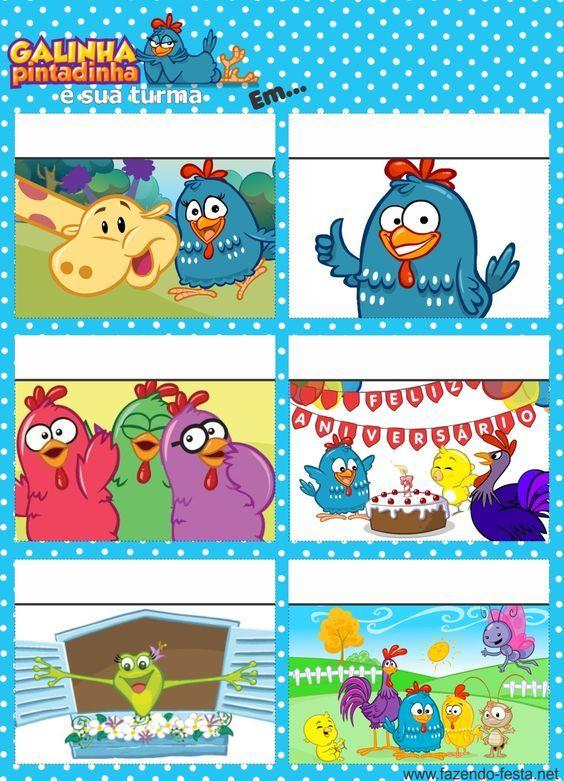 Lindo convite gibi da galinha pintadinha. Para editar e imprimir: http://fazendo-festa.net/convites-para-imprimir/convites-para-editar-e-imprimir-da-galinha-pintadinha/: