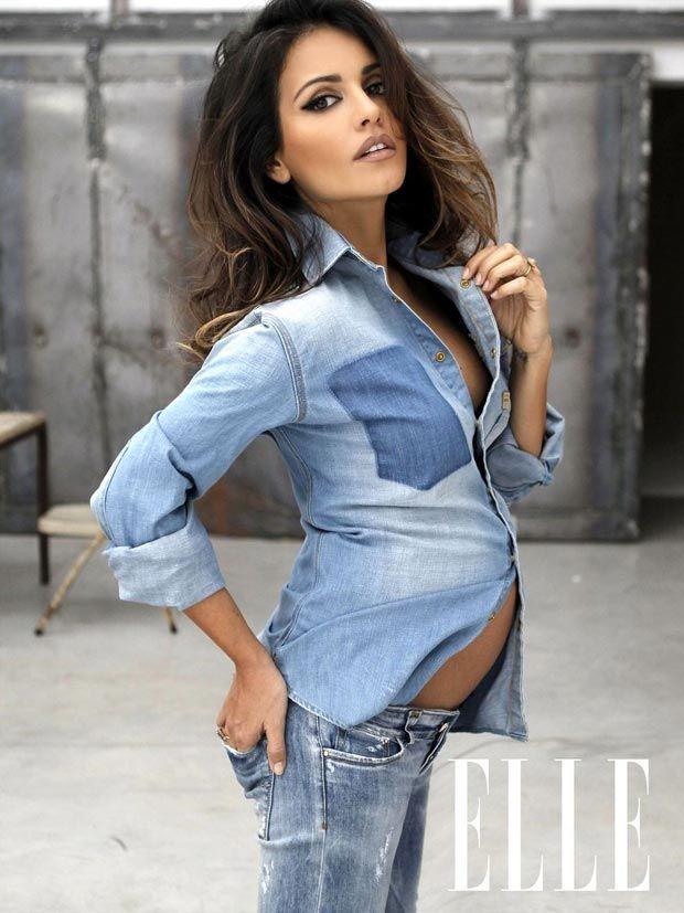 Penelope Cruz' Sister, Monica Cruz. Can I please look like this when I get pregnant...please.