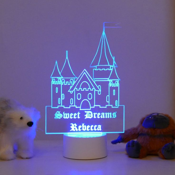 personalised castle night light beautifully crafted light up night lights personalised with your child s own name these multi colour lights come with - Multi Castle Ideas