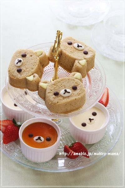 Rilakkuma cake & pudding