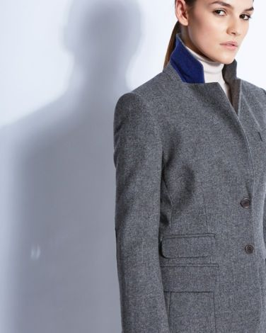 Equestrian-inspired herringbone jacket by Paul Costelloe Living Studio