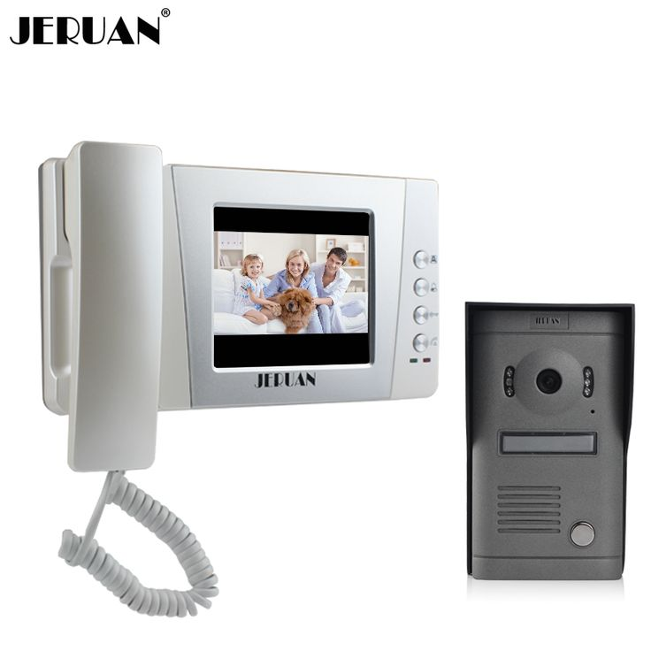 JERUAN 4.3 inch video door phone interfone wired doorphone video call door video door intercom system Night vision camera