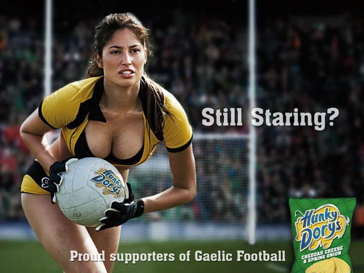 Still Staring? Proud supporters of Gaelic Football #advertising Hunky Dorys