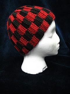 Checkered hat  free #crochet #hat #pattern