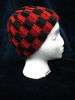Checkered hat  free #crochet #hat #pattern