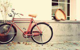 vintage love heart romantic bike heart