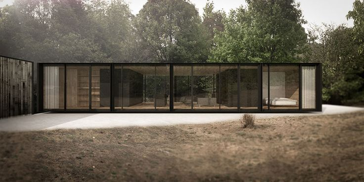 Tucked away within established gardens, this small pavilion extends the ground plane to the north, creating a courtyard between the building and existing garden adjacent to the access road. Bedrooms bookend transparent views through the building to the established garden to the south and it's mature european trees. The core experience of the site is maintained – that is, sitting …