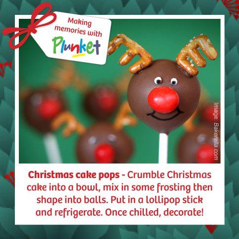 #19 a fun twist on the traditional Christmas cake #plunketadventcalendar {image from Bakerella}
