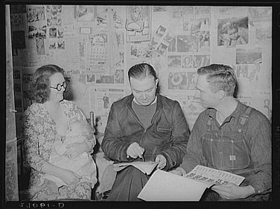 """""""This woman and her husband are talking to a rehabilitation adviser who is helping them save their farm after the Great Depression. Notice how openly she is breastfeeding her baby and also notice how the men are acting: the fact that she is breastfeeding and her breast is exposed is not an issue to them. Breastfeeding back then simply """"was."""" The photographer was a man as well. Still, this mother is breastfeeding without shame or embarrassment!"""": 25 Historical, Depression Era Breastfeeding, Breastfeeding Proof, Farms, Normal Breastfeeding, Historical Images, Breastfeedi Stuff, Baby, Breastfeeding In Public"""