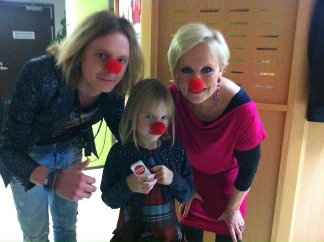 Nenäpäivä 2011 backstage: Vuokko, Jonne Aaron ja Katri-Helena