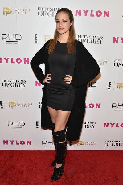 "Alexis Knapp Photos Photos - Actress Alexis Knapp attends E!, ""Fashion Police"" and NYLON kick-off New York Fashion Week with a  Fifty Shades of Fashion event in celebration of the release of the Universal Studios film ""Fifty Shades of Grey"" at PHD at the Dream Downtown on February 11, 2015 in New York City. - E! Fashion Police And NYLON Kickoff NY Fashion Week"