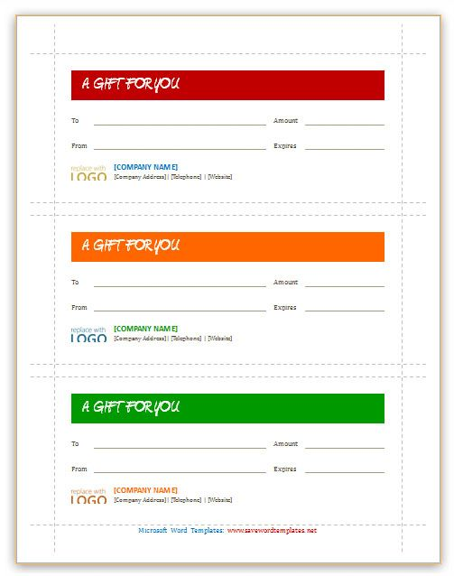 The  Best Free Gift Certificate Template Ideas On