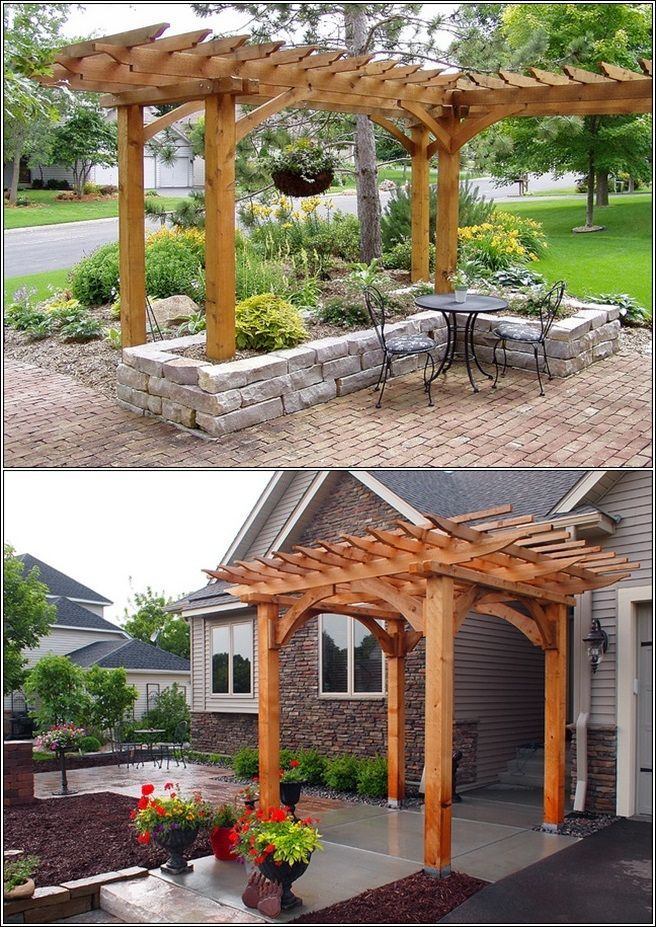 1000 images about pergolas ideas on pinterest deck for Small garden pergola designs