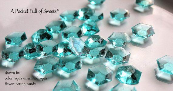125 MINECRAFT Blue DIAMONDS Blue Edible Sugar Jewels Barley Sugar Hard Candy 6.5 oz on Etsy, $20.99