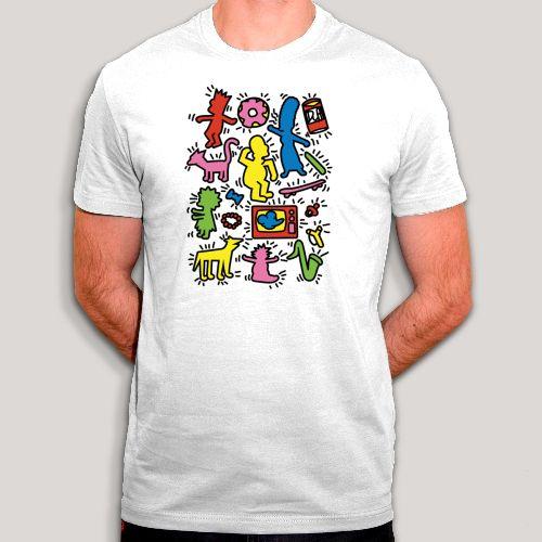 T-shirt style Keith Haring avec les Simpsons - Art et humour