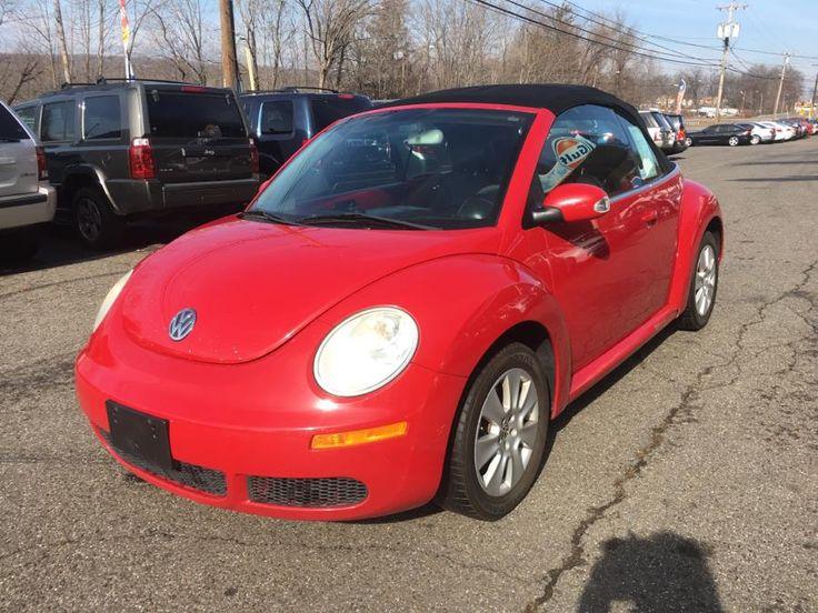 Red 2008 Volkswagen New Beetle Convertible 2dr Auto S PZEV Meriden Connecticut