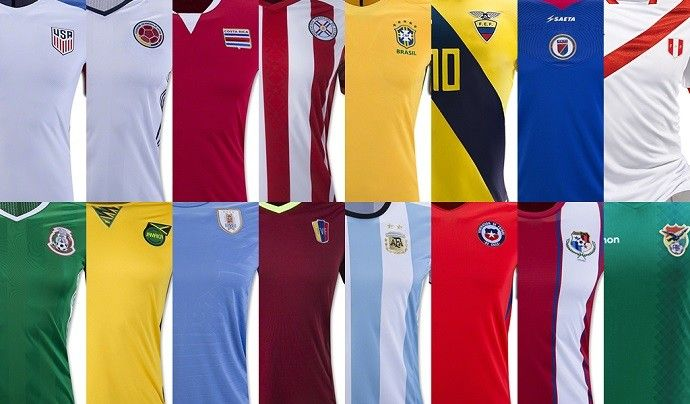 Copa America 2016: The shirts of the 16 National Teams