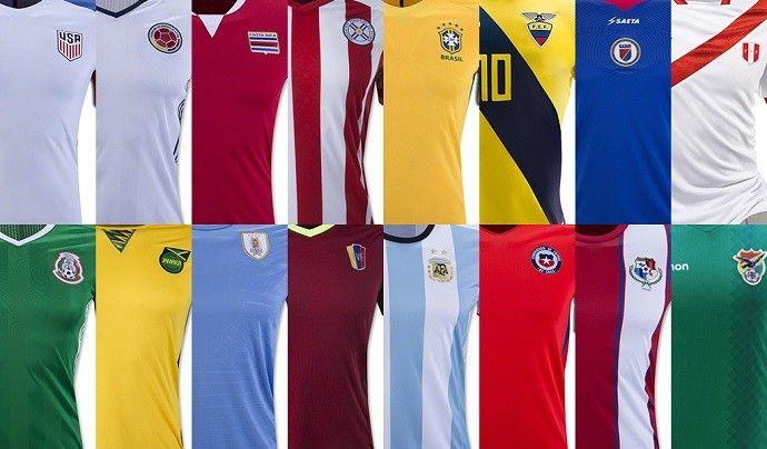 A  Copa América Centenário  começa na próxima sexta-feira, nos Estados Unidos. O blog reuniu as camisa 1 e 2 das 16 seleções (o Haiti só divulgou a t...