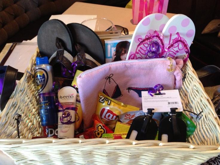 Honeymoon basket! #weddinggifts