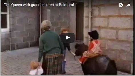 Rare Video: The Queen with grandchildren at Balmoral
