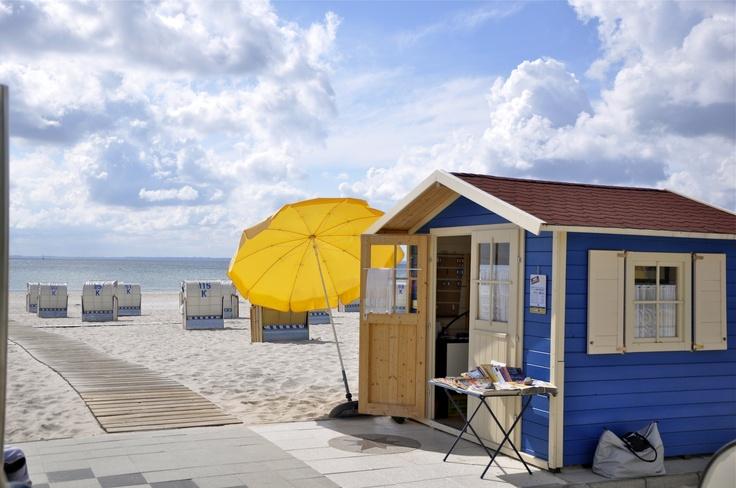 Am Strand von Grömitz an der Ostsee