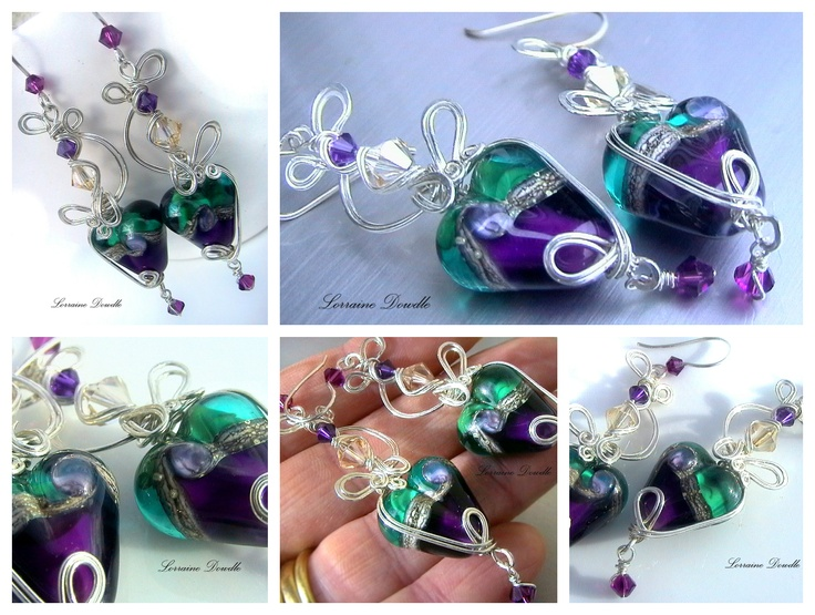Order Request completed Today :) http://www.lorrainedowdlecreations.com/item_920/Order-request-for-C.M-Heart-Pendant-Earrings.htm