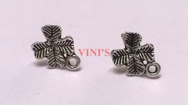 SH3 Antique Silver stud base with loop Stud size 10mm, With Rubber stopper Rs- 18/pair