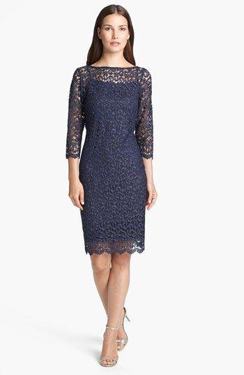 Marina Metallic Lace Sheath Dress available at #Nordstrom