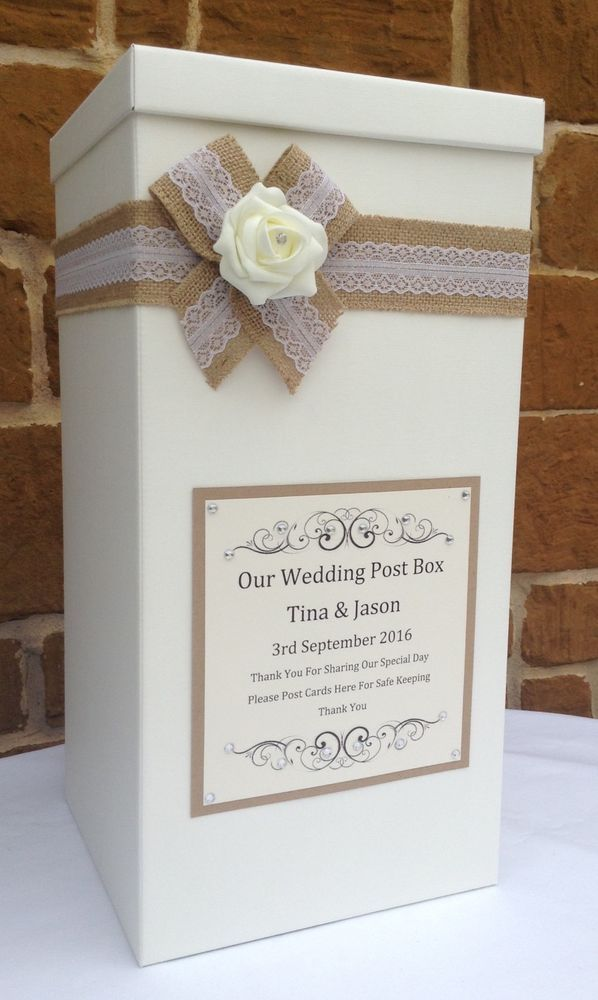 Vintage Wedding Card Post Box Favours Gifts Wishing Well Home Furniture Diy Supplies Other Ebay