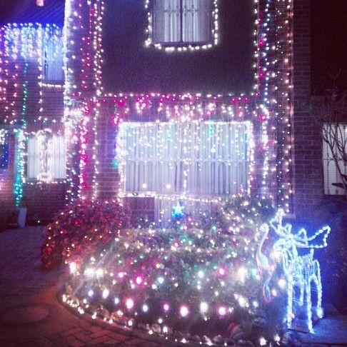 Casa decorada para navidad