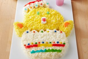 Baby Chick Cake recipe - Hatch a new Easter tradition with this adorable treat. Our instructions make it easy.