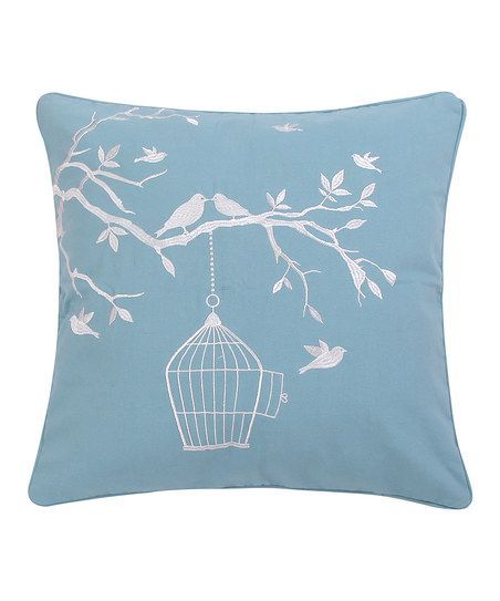 Bird Pattern Throw Pillows : Levtex Home Teal Karisma Bird & Cage Pillow Throw pillows, Pillows and Patterns