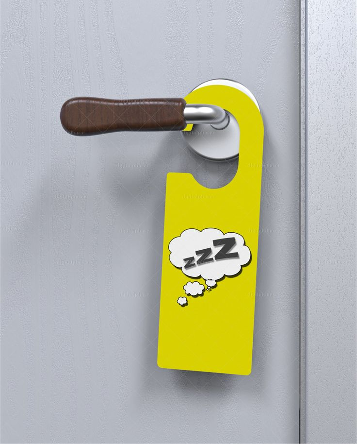 Door Handle Plate / Door Hanger #Mockup @digitalphaser