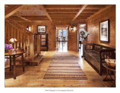 wide hallway luxury lodge