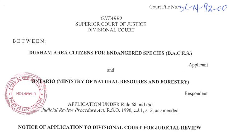 Hello Wind Friends, Our Judicial Review has officially been filed at the Divisional Court in Brampton, Ontario. We are ready to GO! Read the document for yourself. You needn't set aside hours to pick through it because it's short and sweet. But POWERFUL. Click here for the Notice of Application to Divisional Court for Judicial…