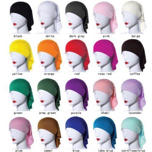 Muslim-Women-Soft-Comfortable-Inner-Hijab-Caps-Islamic-Underscarf-Hats-20-Colors