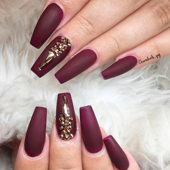 50 Newest Burgundy Nails Designs You Should Definitely Try In 2020 Burgundy Nails Burgundy Nail Designs Trendy Nail Art Designs